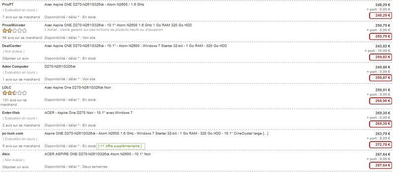 Netbook Acer Aspire One 10,1