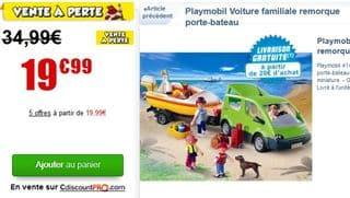 remorque porte bateau playmobil au lieu