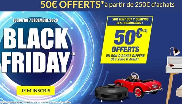 black friday but 50 offerts en bon d