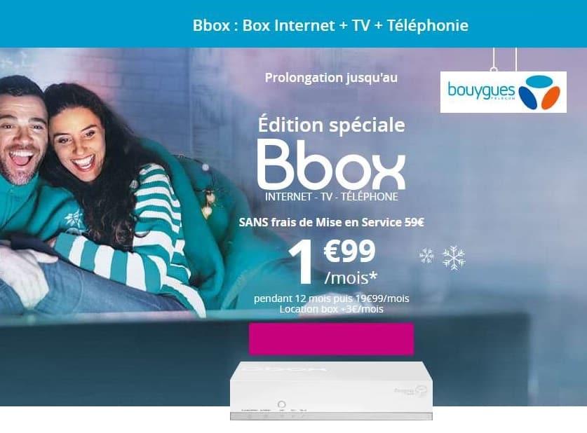 vente flash bbox 1 99 box internet