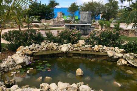 Pond and Fountain