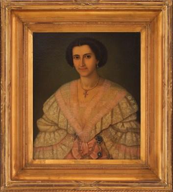 Alexandrina G. Manu (1835 - 1916) ulei pe pânză, 75,5 × 58 cm [1857-1859] Anton Chladek 1795, Elemer, Voivodina, Serbia - 1882, București
