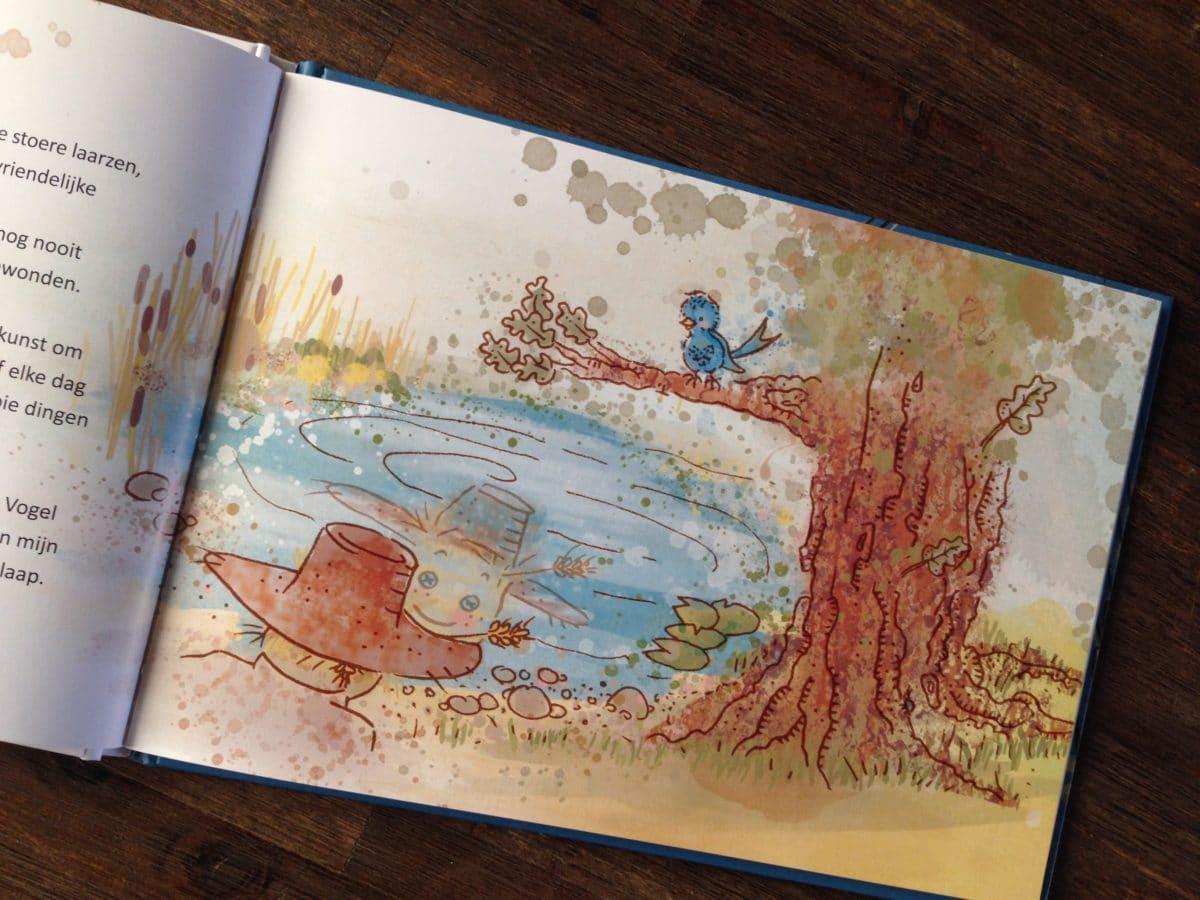 illustraties kinderboek tobias en vogel