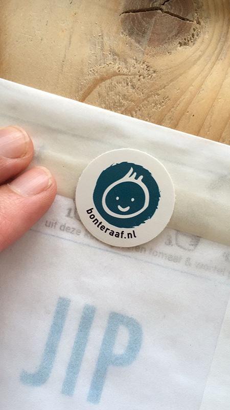 groeikaart pergamijn envelop sluitsticker baby jongen