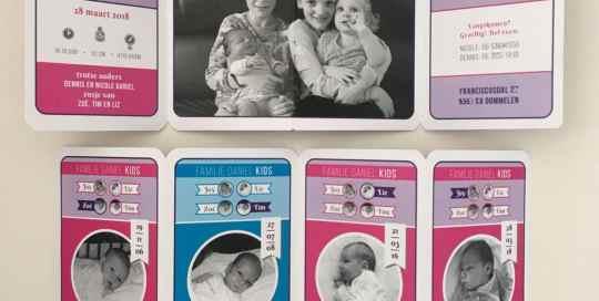 Geboortekaartje Kwartet