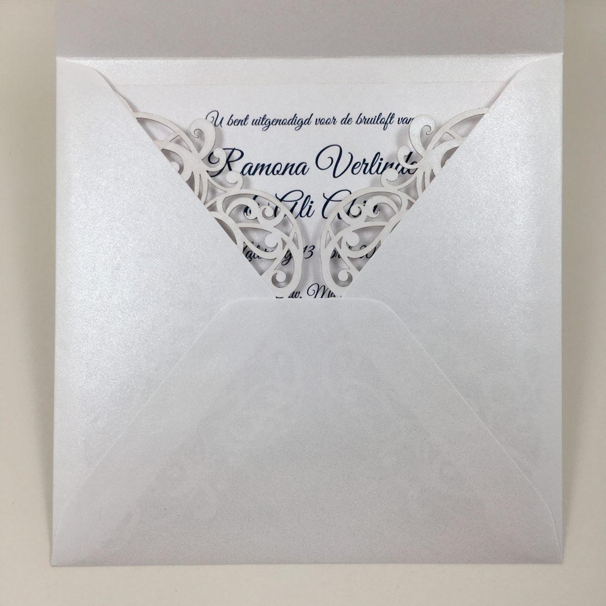 gelaserde trouwkaart glans