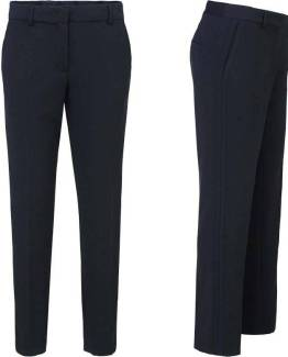 Trousers structured stretch night blue Summum