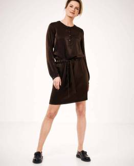 Laura dress choco Knit-ted