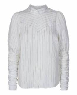 Dina puff stripe shirt off white Co'Couture