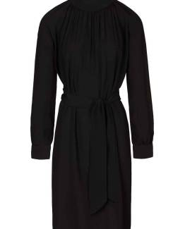 Duke crepe dress jet black By-Bar