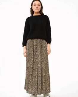 Linde paisley skirt black By-Bar