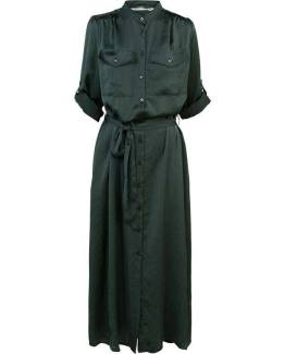 Dress silky touch deep green Summum Woman