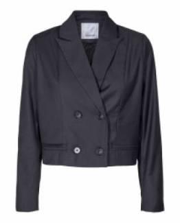 Biot cropped blazer dark grey Co'Couture