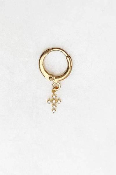 Earring mini diamond cross By Nouck