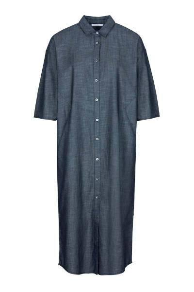 Bloeme long dress dark denim By-Bar