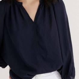 Flowing blouse dark blue Zenggi