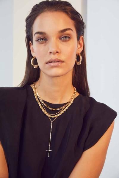 Luka box shoulder top black Co'Couture
