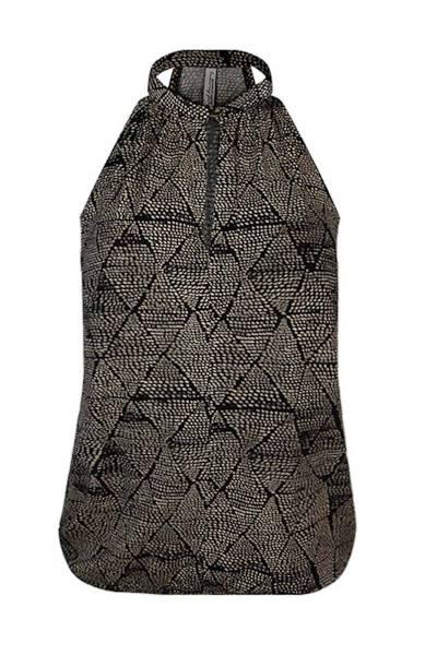 Top triangle dots print black Summum