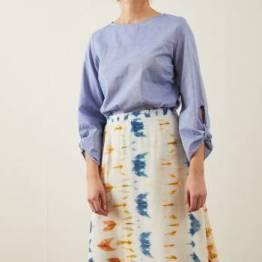 Skirt silk green Lanius