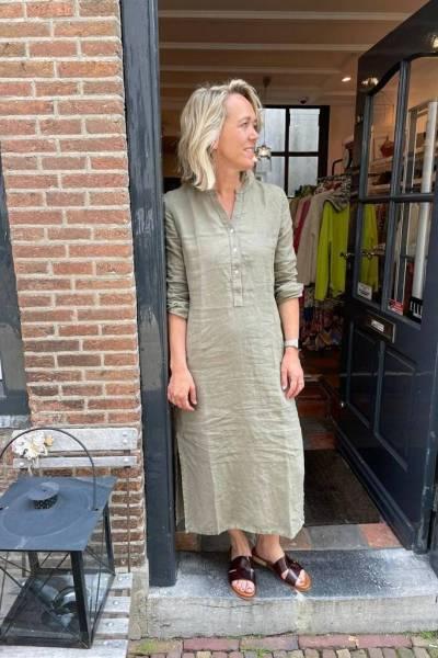 Rebecca dress khaki Knit-ted