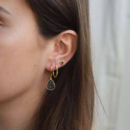 PD mila round earring gold By-Bar