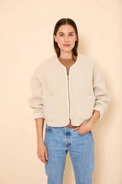 Teddie jacket ivory Knit-ted
