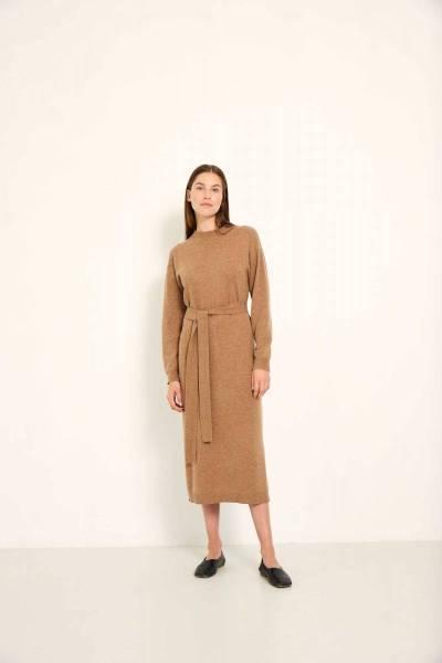 Lina dress mocca Knit-ted