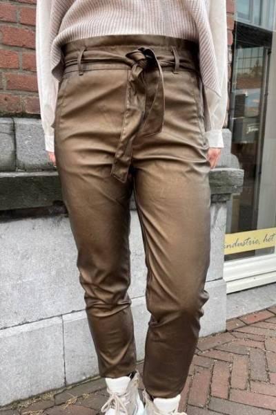 Frida pants bronze Knit-ted