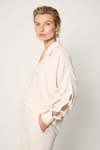 Maria blouse vanilla Knit-ted