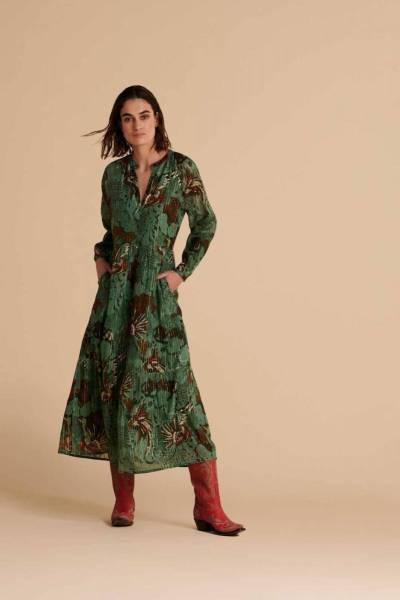 Urban jungle eucalyptus green dress Pom Amsterdam