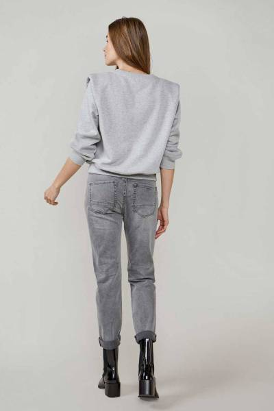 Tapered jeans haka black denim grey Summum