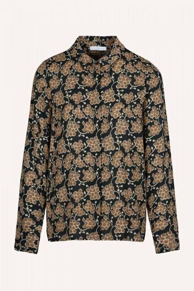 Jonna grapes blouse brown print By Bar
