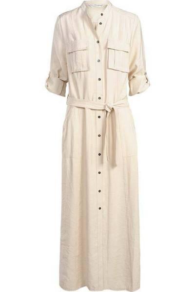 Dress tencel blend white sand Summum
