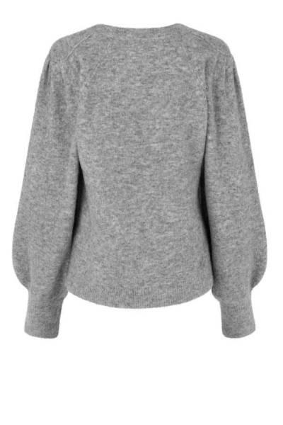 Kalliroi knit O-neck grey melange Second Female