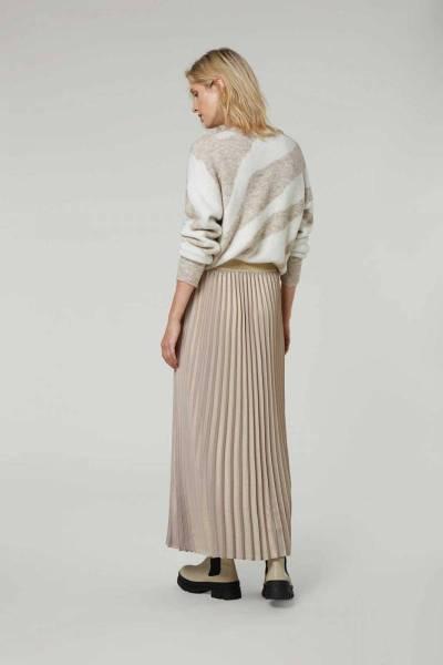 Plisse skirt metallic soft taupe Summum