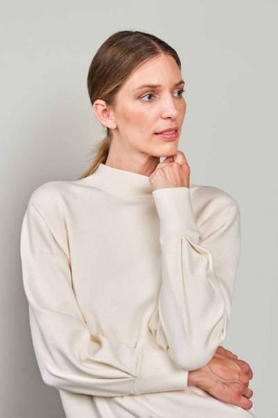 Mock neck sweater knit ivory Summum