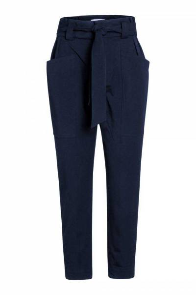 Miya pocket pant navy Co'Couture