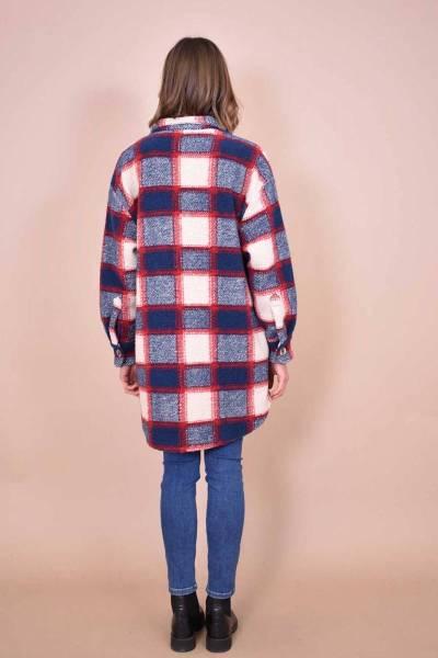 Canan manteau bleu La Fee Maraboutee