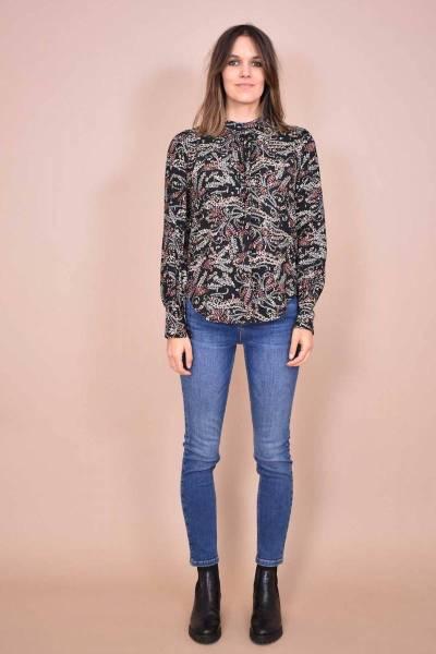 Charon blouses noir/multicolor La Fee Maraboutee