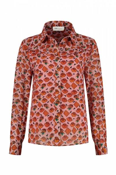 Winks and kisses pink blouse Pom Amsterdam