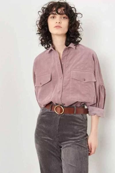 Bota velvet wild lila blouse Sessun