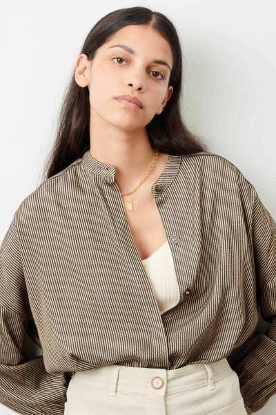 Colonella sandblack blouse Sessun