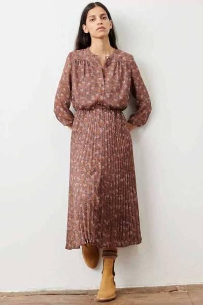 Painterly dresses rosewood Sessun