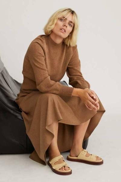 Ciara skirt flannel camel Zenggi