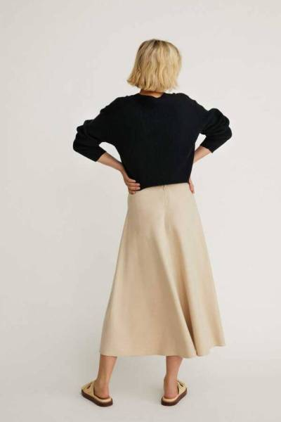 Ciara skirt flannel cream Zenggi