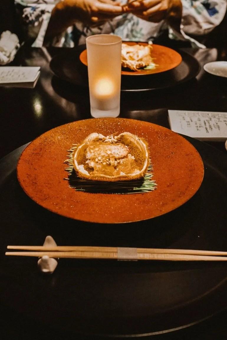 dinner at Beniya Mukayu