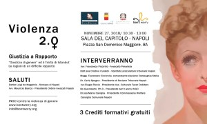 27-11-18 Violenza 2.0 Giustizia di Genere ed il trattato di Instanbul SALA DEL CAPITOLO NAPOLI