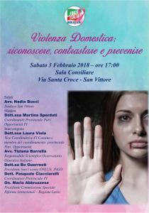 3-2-2018 Violenza domestica, riconoscere, contrastare e prevenire