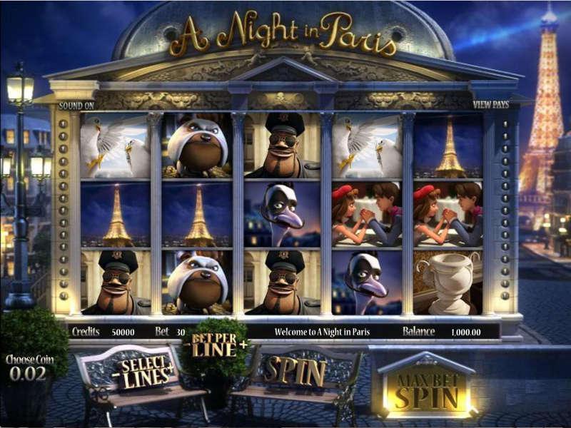 La machine a sous A Night in Paris de Betsoft-min