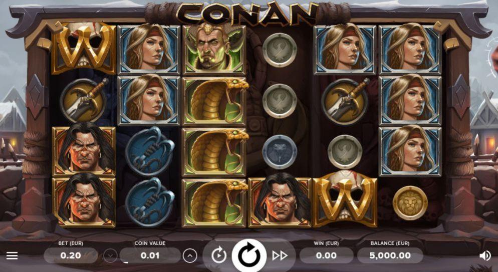 La machine a sous Conan de Netent-min